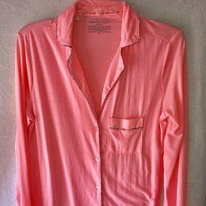 Victoria Secret button down sleep shirt. Pink.